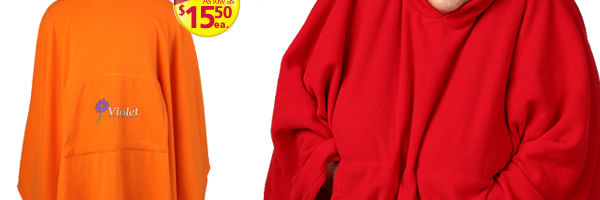 Micro Coral Fleece Poncho