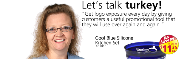 Let's talk turkey! Cool Blue Silicone Kitchen Set and more!