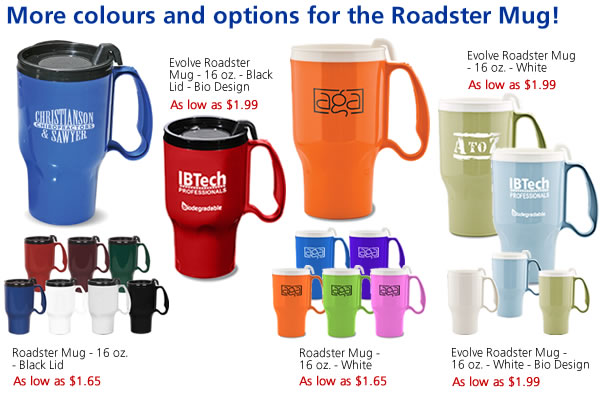More colours and options for the Roadster Mug!