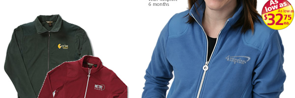 Recycled Polyester Full Zip Fleece Jacket