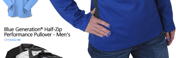 Blue Generation Half-Zip Performance Pullover - Ladies'
