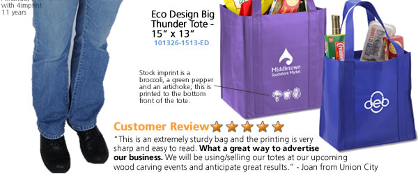 "Eco Design Big Thunder Tote - 15"" x 13"""