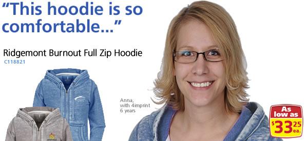 Ridgemont Burnout Full Zip Hoodie