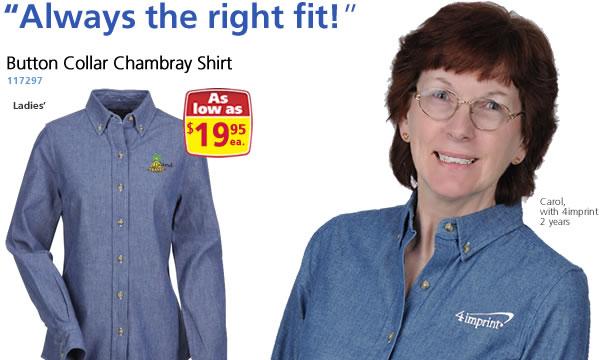 Button Collar Chambray Shirt