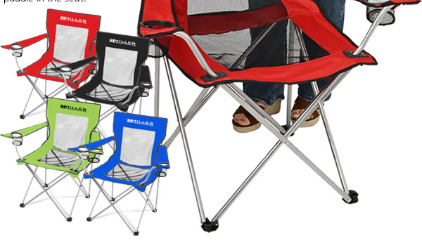 Mesh Folding Chair w/Carrying Bag