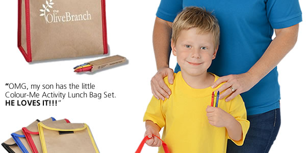 Colour-Me Activity Lunch Bag Set
