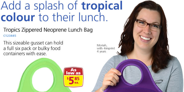 Tropics Zippered Neoprene Lunch Bag