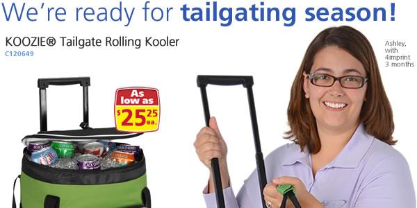 KOOZIE® Tailgate Rolling Kooler