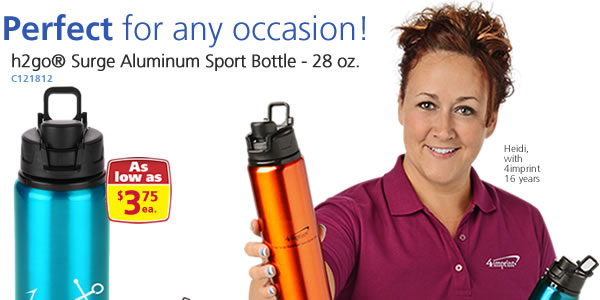 h2go Surge Aluminum Sport Bottle - 28 oz.