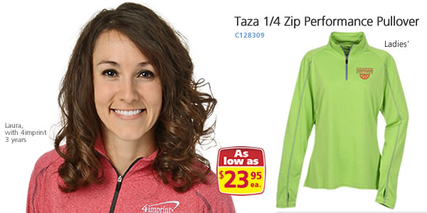 Taza 1/4 Zip Performance Pullover