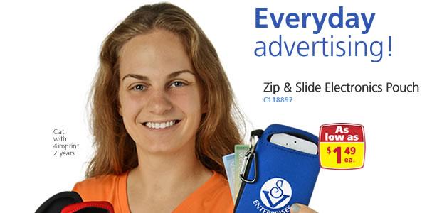 Zip & Slide Electronics Pouch