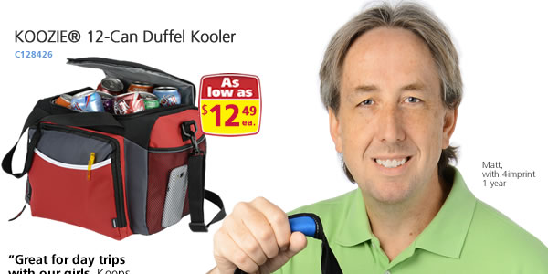 KOOZIE® 12-Can Duffel Kooler