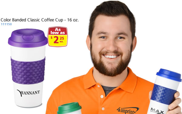 Color Banded Classic Coffee Cup