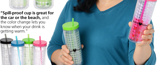 Ice Chameleon Tumbler with Straw - 16 oz.