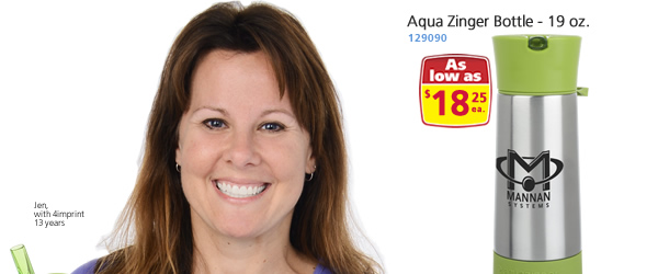 Aqua Zinger Bottle – 19 oz.