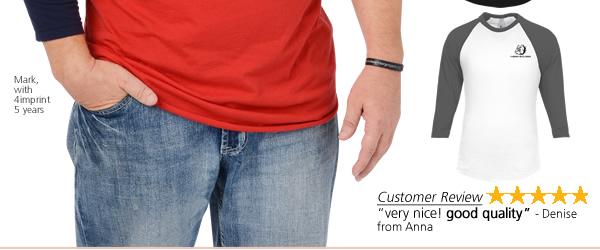 American Apparel 3/4 Sleeve Raglan T-Shirt