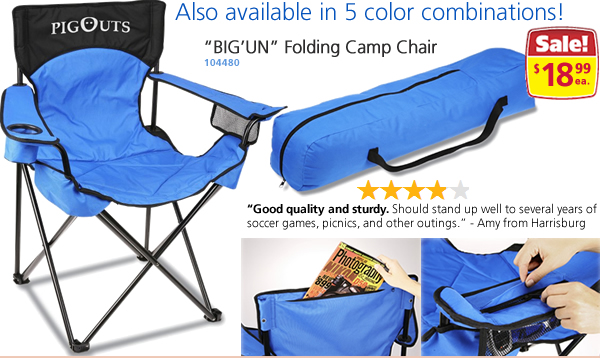 "Camo ""BIG'UN"" Folding Camp Chair"
