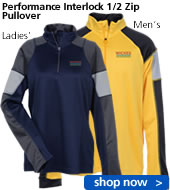 Performance Interlock 1/2 Zip Pullover