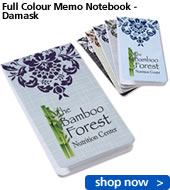 Full Colour Memo Notebook - Damask