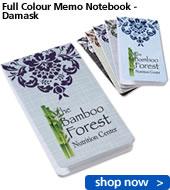 Full Colour Memo Notebook - Damask