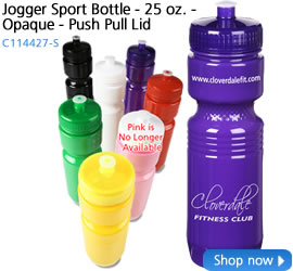 Jogger Sport Bottle - 25 oz. - Opaque - Push Pull Lid