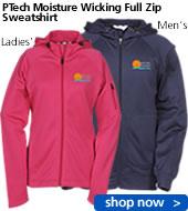 PTech Moisture Wicking Full Zip Sweatshirt