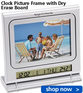 Clock Picture Frame with Dry Erase Board