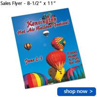 "Sales Flyer - 8-1/2"" x 11"""