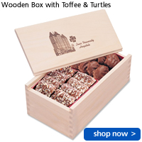 Wooden Box with Toffee & Turtles