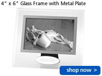 """4"""" x 6"""" Glass Frame w/Metal Plate"""