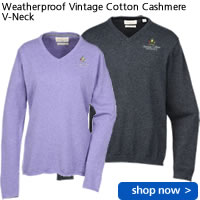 Weatherproof Vintage Cotton Cashmere V-Neck