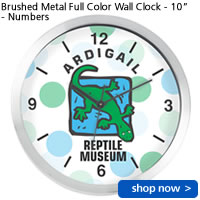 Brushed Metal Full Color Wall Clock