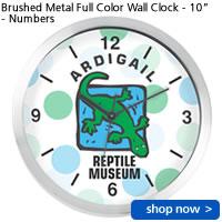 Brushed Metal Full Color Wall Clock