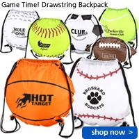 Game Time! Soccer Ball Drawstring Backpack