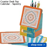 Coaster Desk Top Calendar - Tapestry