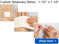"Custom Temporary Tattoo - 1-1/2"" x 1-1/2"""