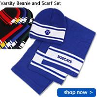 Varsity Beanie and Scarf Set
