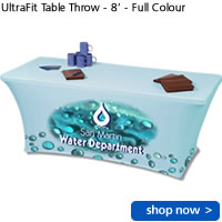 UltraFit Table Throw - 8' - Full Colour
