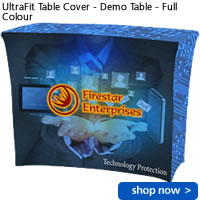 UltraFit Table Cover - Demo Table - Full Colour