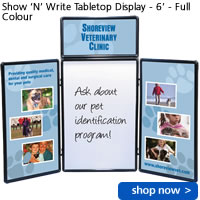 Show 'N' Write Tabletop Display - 6' - Full Colour