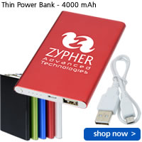 Thin Power Bank - 4000 mAh