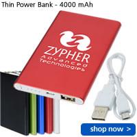 Thin Power Bank - 4000 mAh