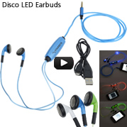 Disco LED Earbuds