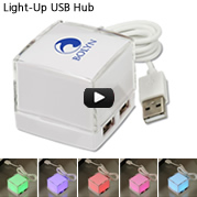 Light-Up USB Hub - Closeout