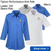 Tipton Performance Knit 3/4 Sleeve Polo