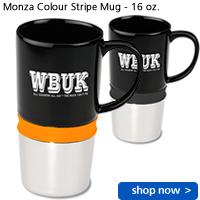 Monza Colour Stripe Mug - 16 oz.