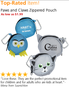 Paws and Claws Zippered Pouch