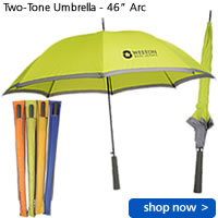 "Two-Tone Umbrella - 46"" Arc"