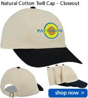 Natural Cotton Twill Cap - Closeout