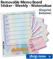 Removable Memo Board Sticker - Weekly - Watercolour